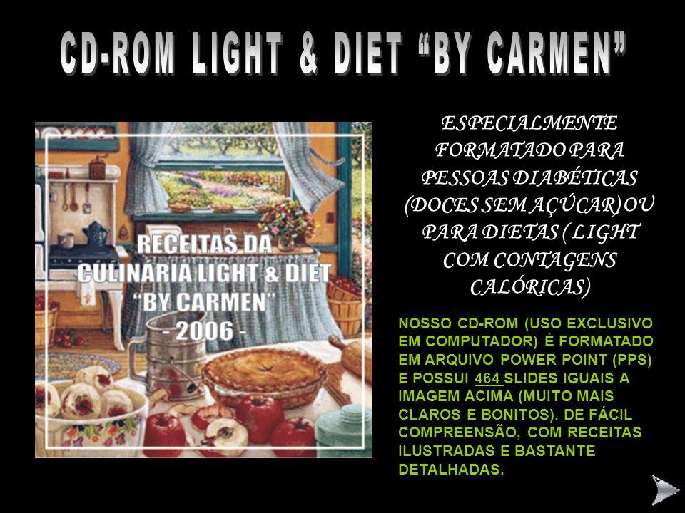 """CONHEÇA NOSSA COLEÇÃO DE CD's-ROM """"BY CARMEN"""" """" BASTA QUERER: UM POUCO DE VONTADE E DE ATENÇÃO! TEMPERE TUDO COM UM POUCO DE CARINHO E PRONTO: BOM APE"""