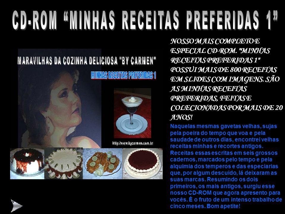 """CD-ROM LIGHT & DIET """"BY CARMEN"""" ESPECIALMENTE FORMATADO PARA PESSOAS DIABÉTICAS (DOCES SEM AÇÚCAR) OU PARA DIETAS ( LIGHT COM CONTAGENS CALÓRICAS) NOS"""