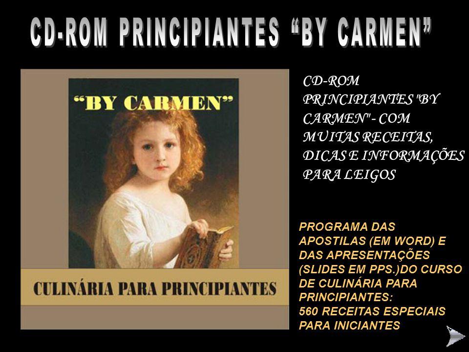 """CD-ROM CULINÁRIA DE JOINVILLE """"BY CARMEN"""" CD-ROM COM RECEITAS TÍPICAS DE NOSSA REGIÃO, COM MUITAS RECEITAS ILUSTRADAS (DOCES E SALGADAS). COM BELÍSSIM"""