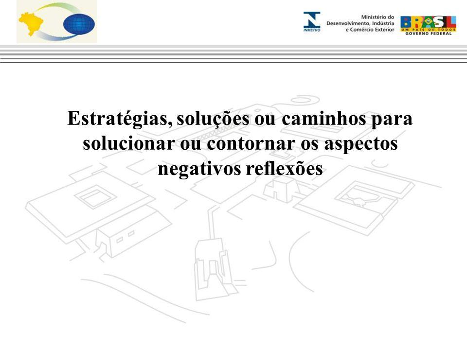 Estratégias, soluções ou caminhos para solucionar ou contornar os aspectos negativos reflexões