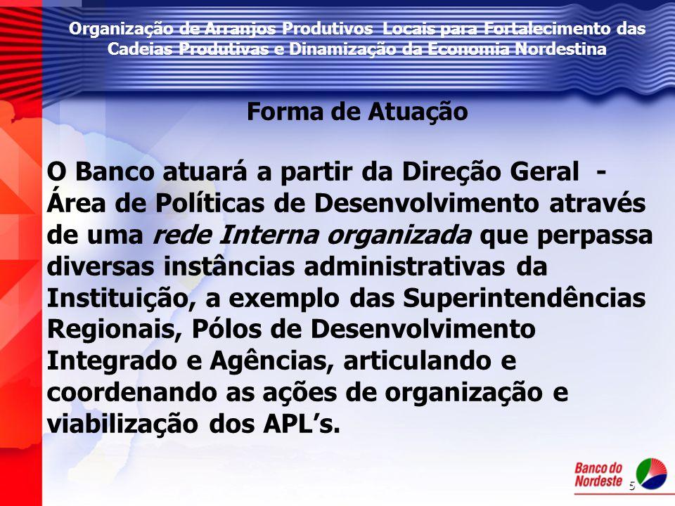 6 Organização de Arranjos Produtivos Locais para Fortalecimento das Cadeias Produtivas e Dinamização da Economia Nordestina Por que trabalhar APL.