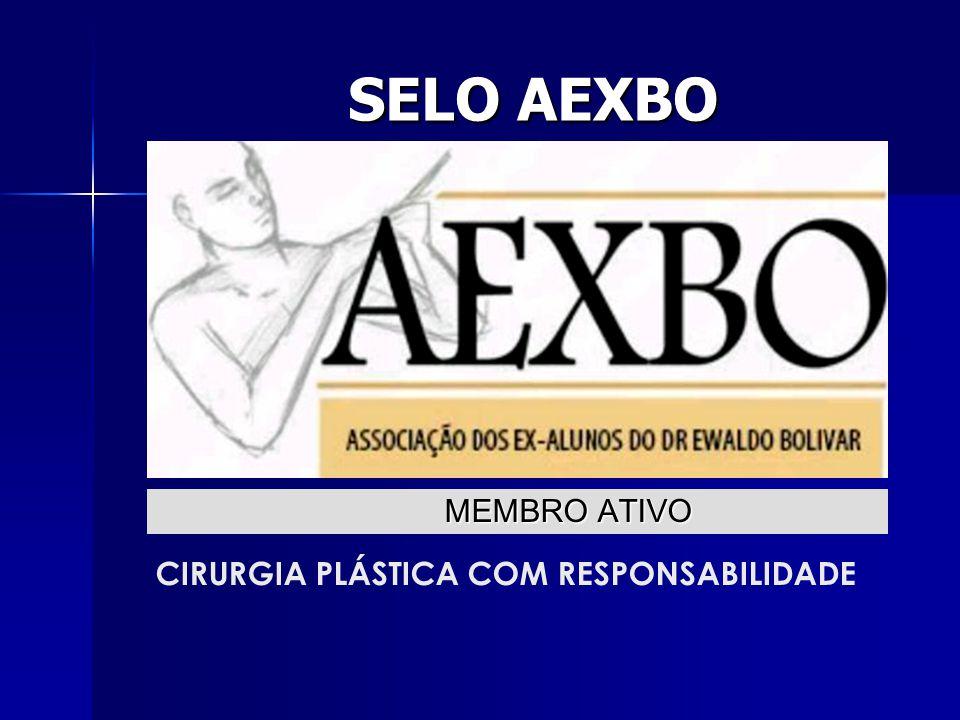 SELO AEXBO CIRURGIA PLÁSTICA COM RESPONSABILIDADE MEMBRO ATIVO