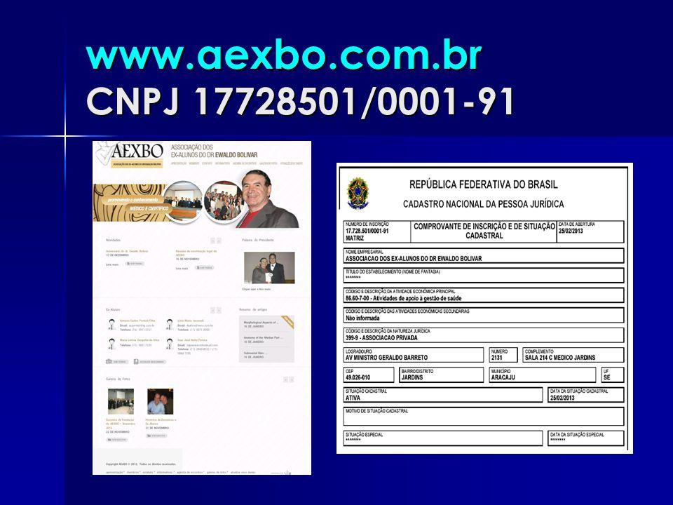 www.aexbo.com.br CNPJ 17728501/0001-91