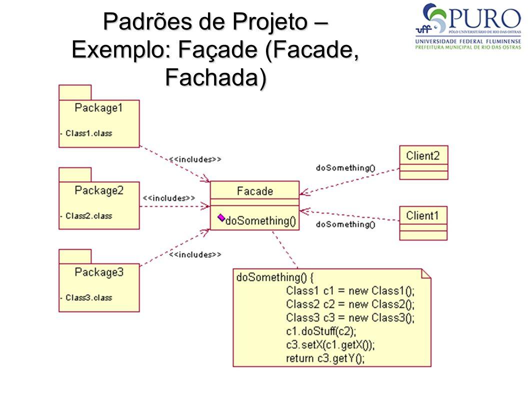 Padrões de Projeto – Exemplo: Façade (Facade, Fachada)