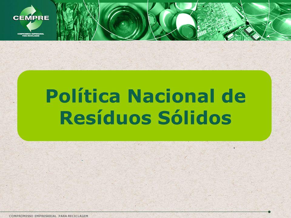COMPROMISSO EMPRESARIAL PARA RECICLAGEM Política Nacional de Resíduos Sólidos