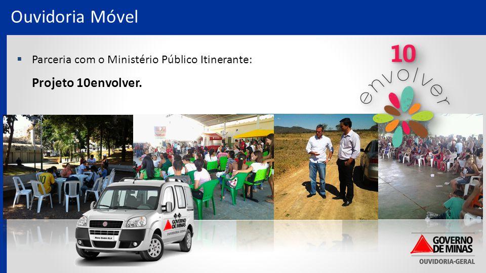 Ouvidoria Móvel  Parceria com o Ministério Público Itinerante: Projeto 10envolver.