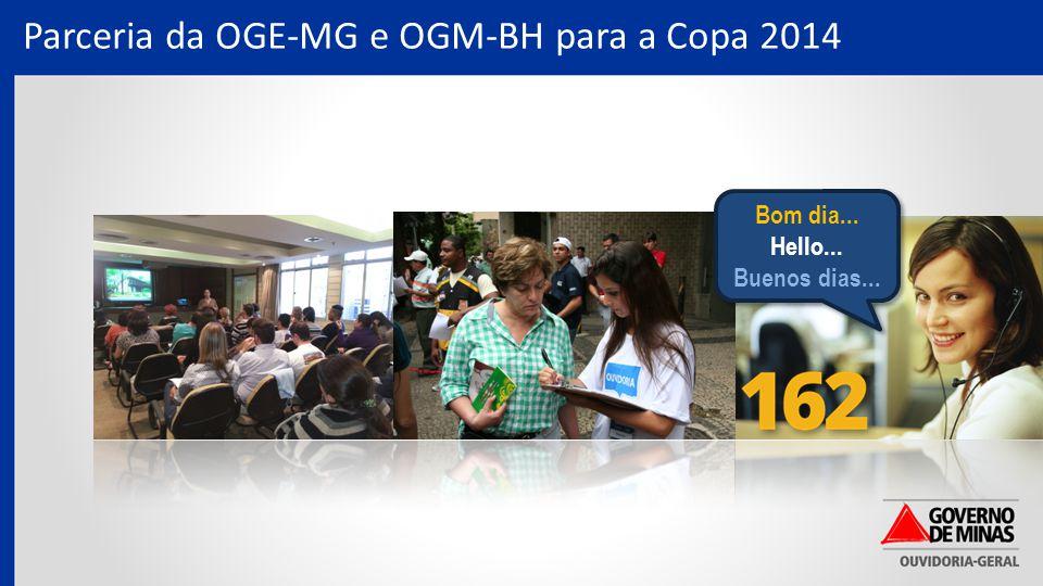 Parceria da OGE-MG e OGM-BH para a Copa 2014 Bom dia...