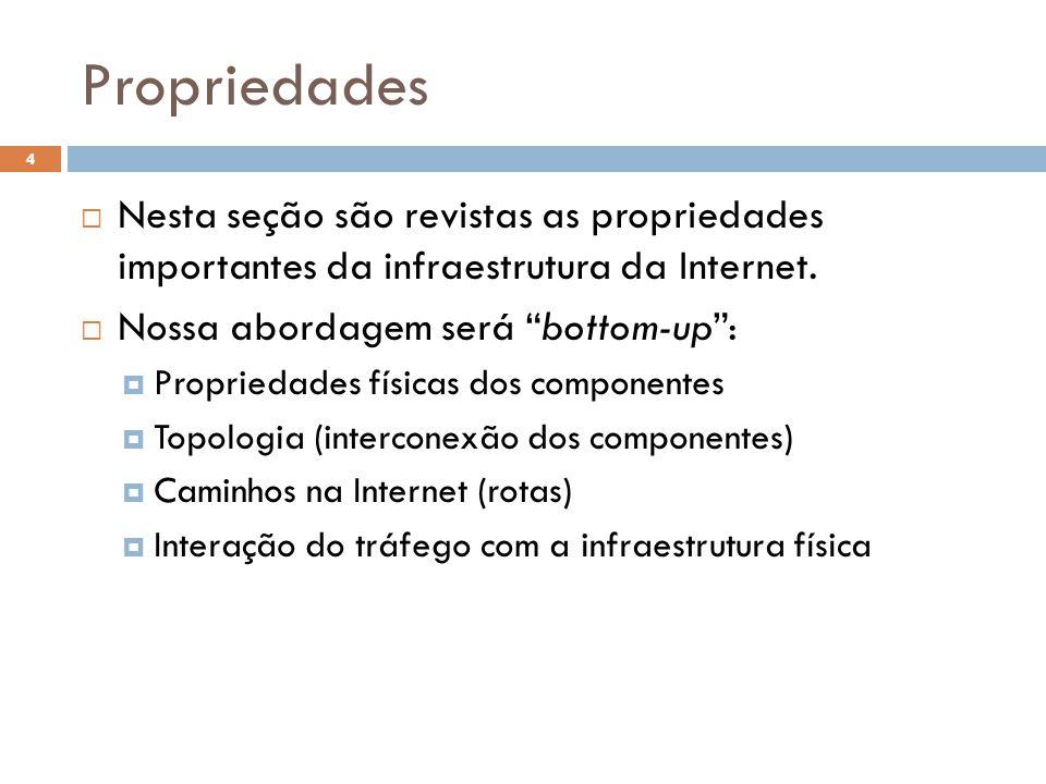 4  Nesta seção são revistas as propriedades importantes da infraestrutura da Internet.