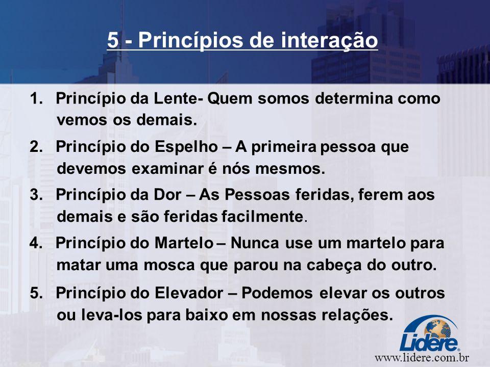 www.lidere.com.br 5 - Princípios de interação 1.