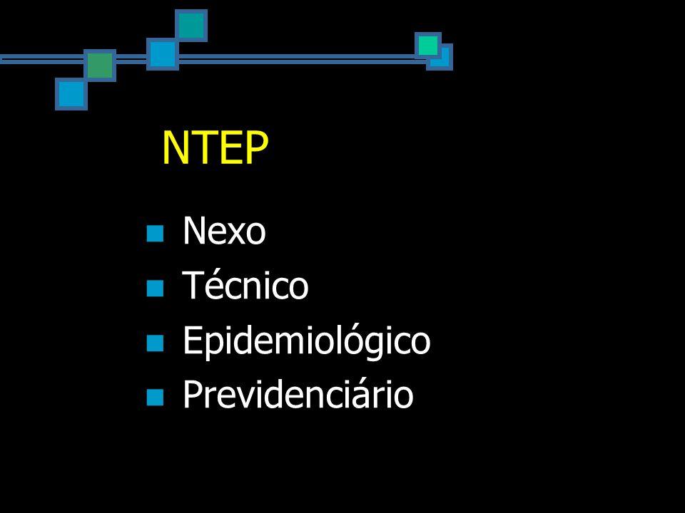 NTEP Nexo Técnico Epidemiológico Previdenciário
