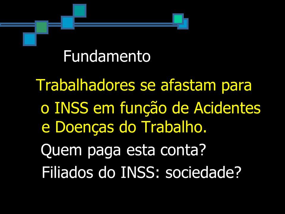 Fundamento Trabalhadores se afastam para o INSS em função de Acidentes e Doenças do Trabalho.