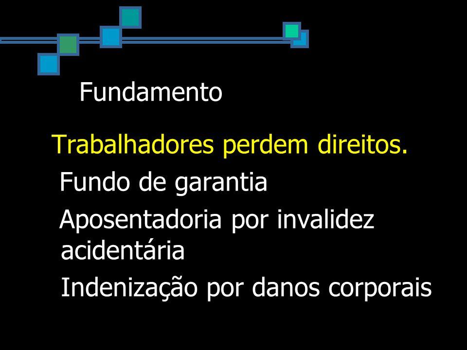 Fundamento INSS perde recurso.