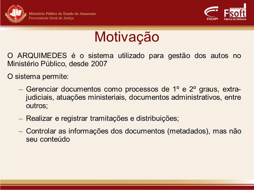 Motivação Projeto desenvolvido pelo MPE-AM, em parceira com a FUCAPI, busca a melhoria e modernização do sistema Motivações do projeto: – Controlar o conteúdo dos documentos de forma virtual; – Diminuir o uso de papel.