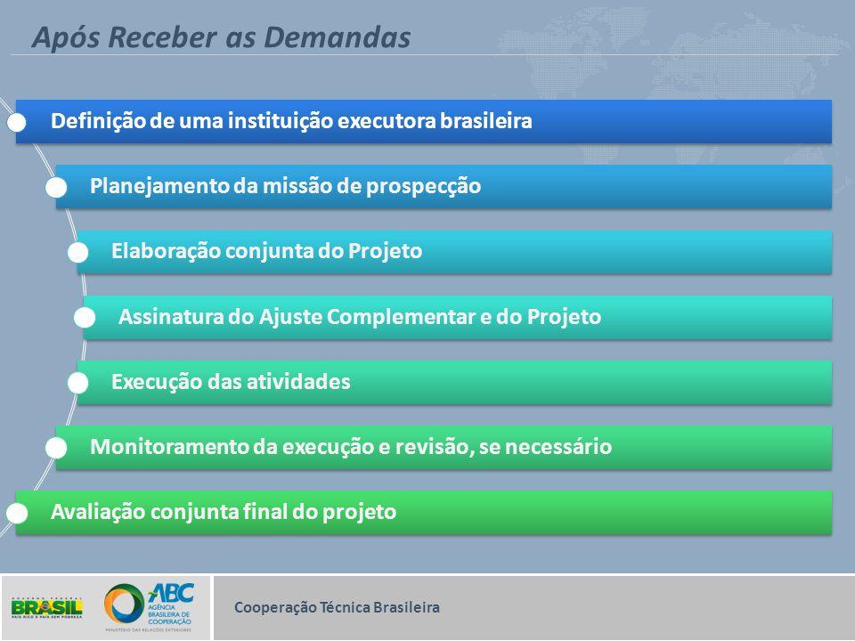 Após Receber as Demandas Cooperação Técnica Brasileira