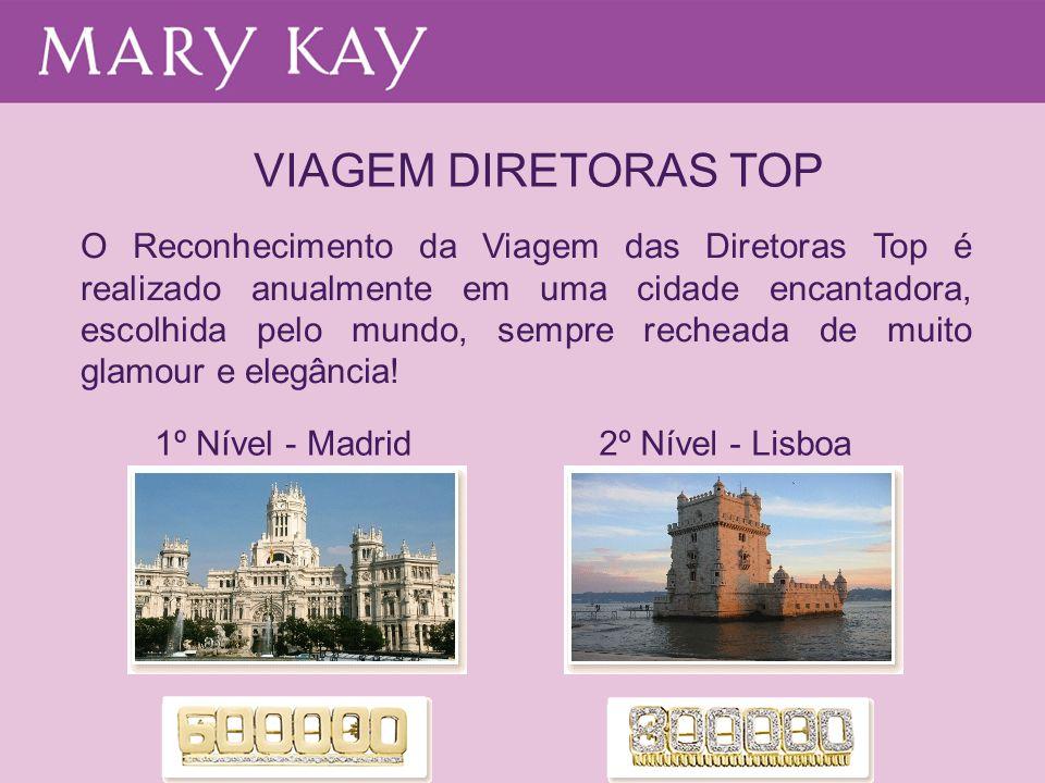 VIAGEM DIRETORAS TOP O Reconhecimento da Viagem das Diretoras Top é realizado anualmente em uma cidade encantadora, escolhida pelo mundo, sempre reche
