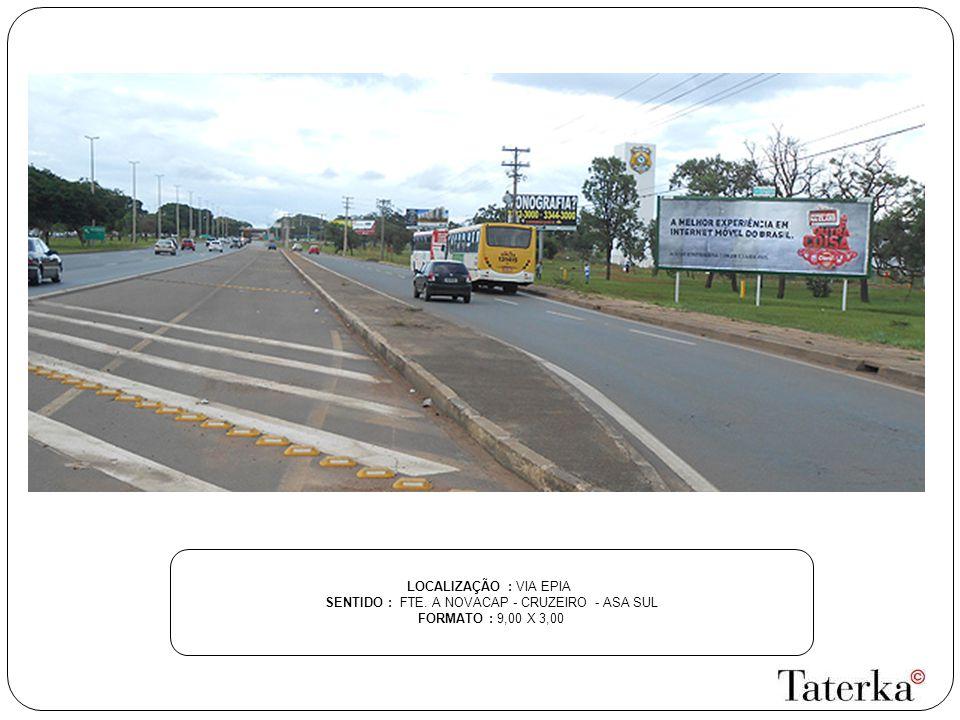 LOCALIZAÇÃO : DF 027 SENTIDO : SAÍDA DO SETOR DE CONDOMÍNIOS PX.