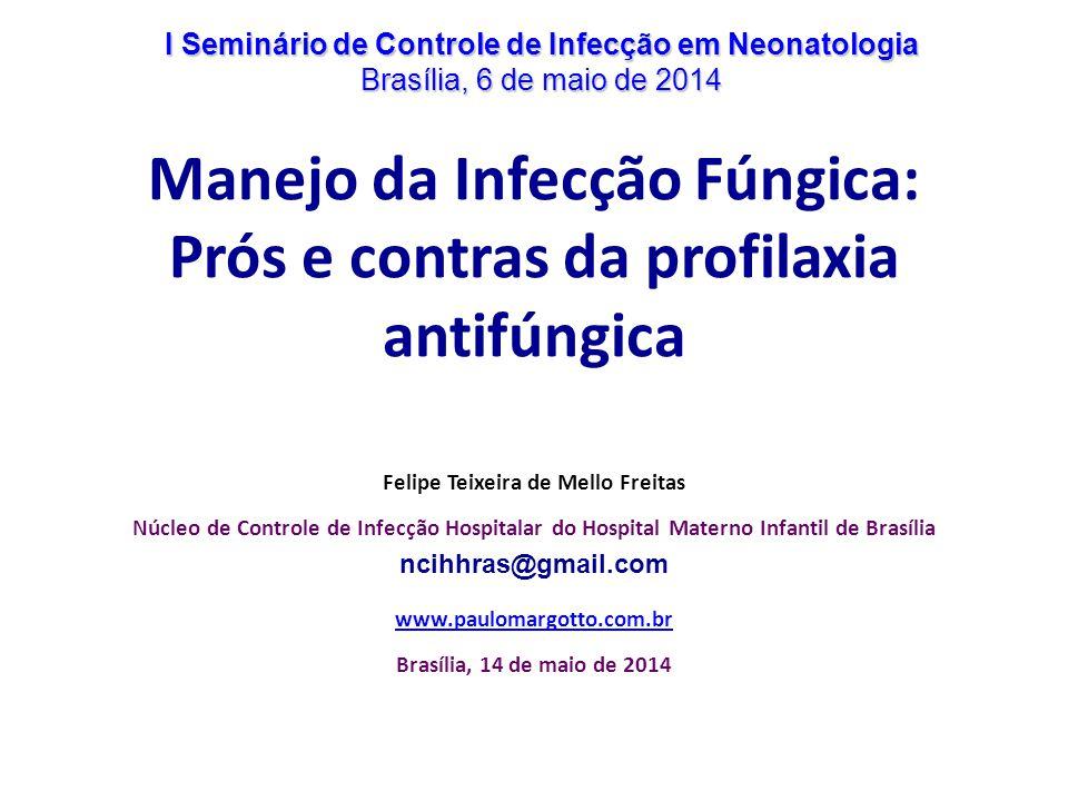 Manejo da Infecção Fúngica: Prós e contras da profilaxia antifúngica Felipe Teixeira de Mello Freitas Núcleo de Controle de Infecção Hospitalar do Hos