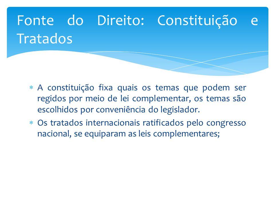  A constituição fixa quais os temas que podem ser regidos por meio de lei complementar, os temas são escolhidos por conveniência do legislador.