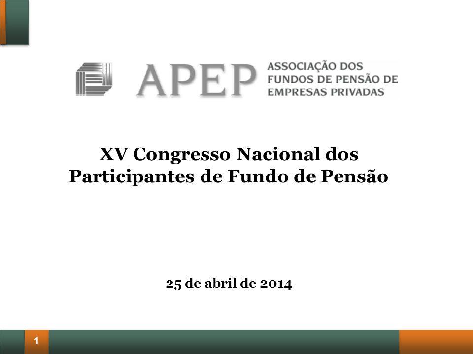1 XV Congresso Nacional dos Participantes de Fundo de Pensão 25 de abril de 2014