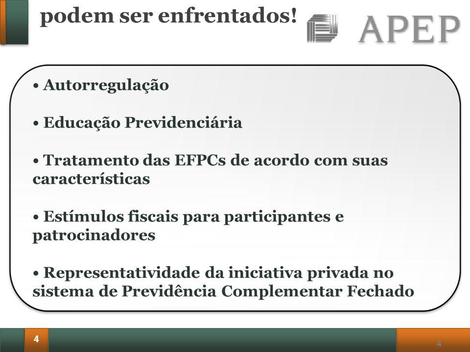 4 4 Autorregulação Educação Previdenciária Tratamento das EFPCs de acordo com suas características Estímulos fiscais para participantes e patrocinador