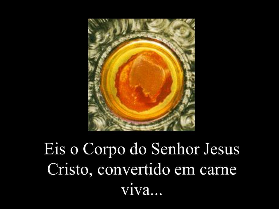 Eis o Corpo do Senhor Jesus Cristo, convertido em carne viva...