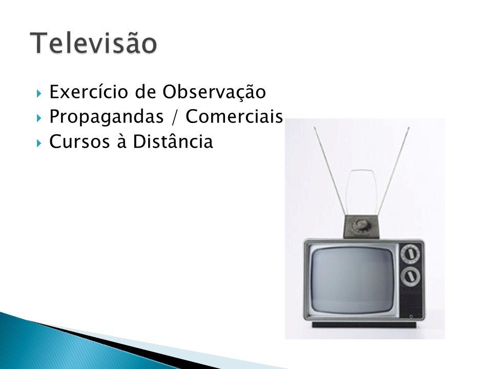  Exercício de Observação  Propagandas / Comerciais  Cursos à Distância