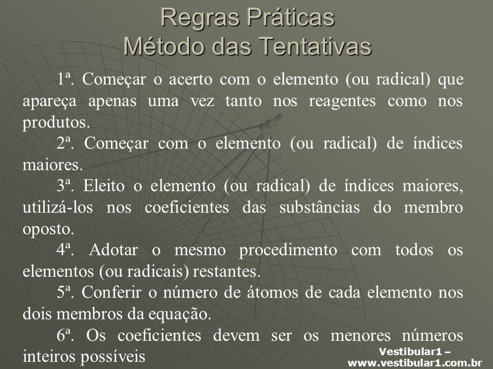 Vestibular1 – www.vestibular1.com.br Regras Práticas Método das Tentativas 1ª.
