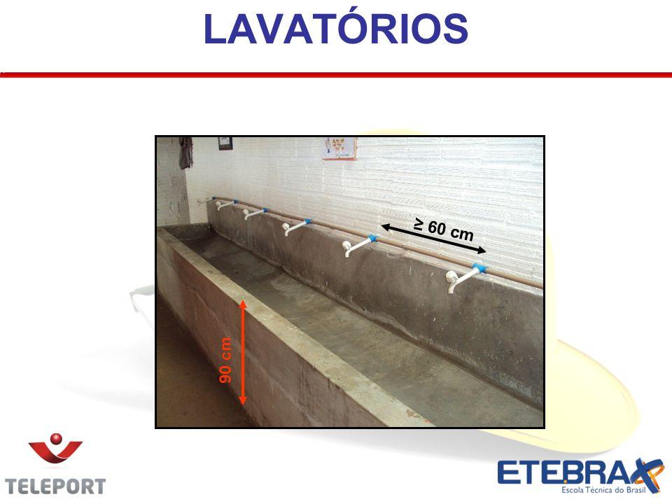 LAVATÓRIOS ≥ 60 cm 90 cm