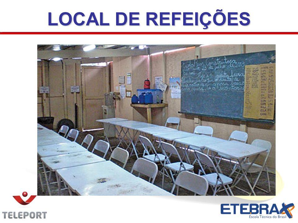 LOCAL DE REFEIÇÕES