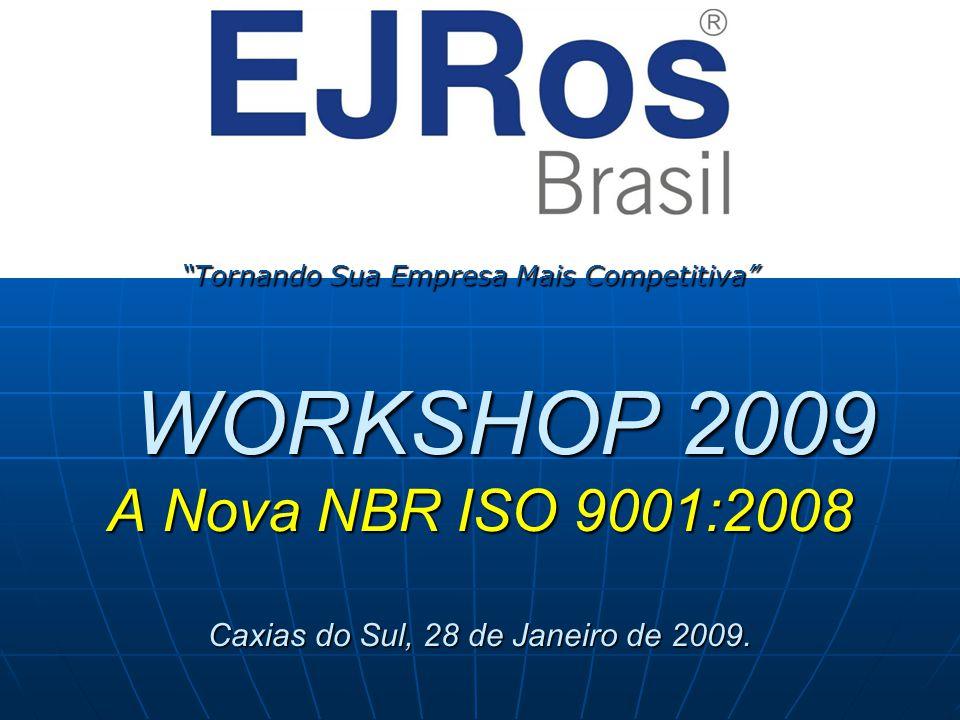 Programa da Tarde 13:30h – Boas Vindas aos Participantes 13:30h – Boas Vindas aos Participantes 13:45h – Abertura do Evento – Apresentação EJRos Brasil 13:45h – Abertura do Evento – Apresentação EJRos Brasil 14:00h – Apresentação Novo Produto (Usina de Clientes) 14:00h – Apresentação Novo Produto (Usina de Clientes) 14:45h – Apresentação e análise da ISO 9001:2008 14:45h – Apresentação e análise da ISO 9001:2008 16:00h – Coffee Break 16:00h – Coffee Break 18:00h – Encerramento 18:00h – Encerramento Toaletes Toaletes Questionamentos / Dúvidas Questionamentos / Dúvidas Lista de Presença Lista de Presença Avaliação do Evento Avaliação do Evento Celulares Celulares Apresentações e Norma (Download no site da EJRos) Apresentações e Norma (Download no site da EJRos)