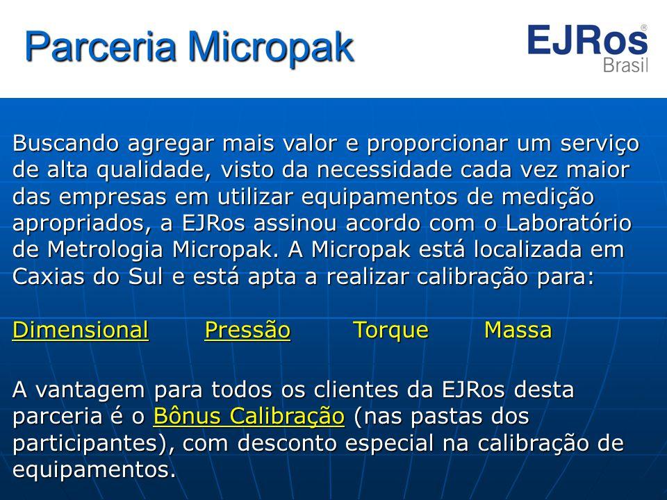 Parceria Micropak Buscando agregar mais valor e proporcionar um serviço de alta qualidade, visto da necessidade cada vez maior das empresas em utiliza