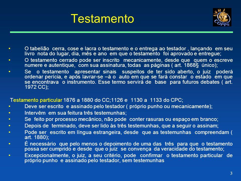 4 Testamento em certas condições em que seria impossível testar pelos meios ordinários.