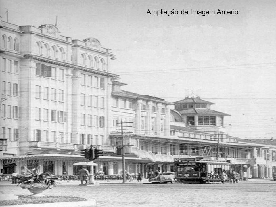 Vale comparar a imagem anterior com esta dos anos 1940/50, que mostra o bonde 12 no final da Avenida Ana Costa, ao lado do Atlântico Hotel.bonde 12