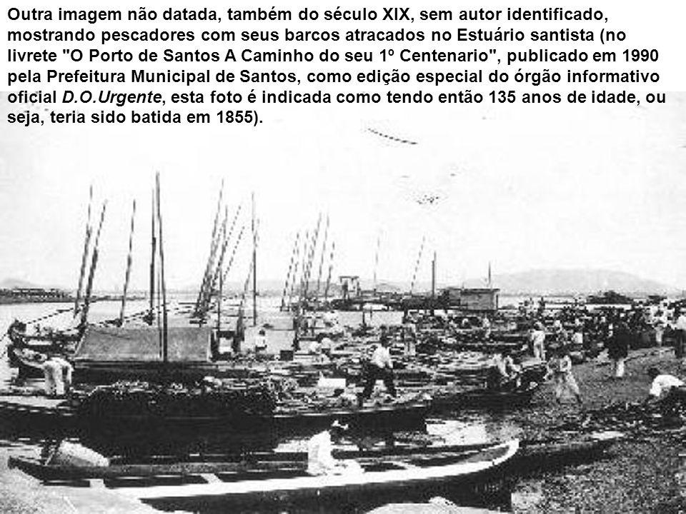 Esta é a foto mais antiga de Santos de que se tem notícia. Mostrando a área central e o porto, foi produzida em 1865 pelo fotógrafo Augusto Militão de