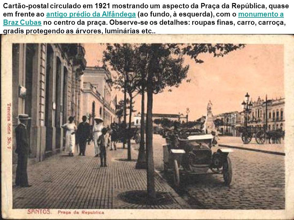 Em 1947, em meio ao corre-corre de uma cidade em intenso movimento, o bonde da linha 22 circundava a praça, pelo lado da Rua General Câmara, a caminho