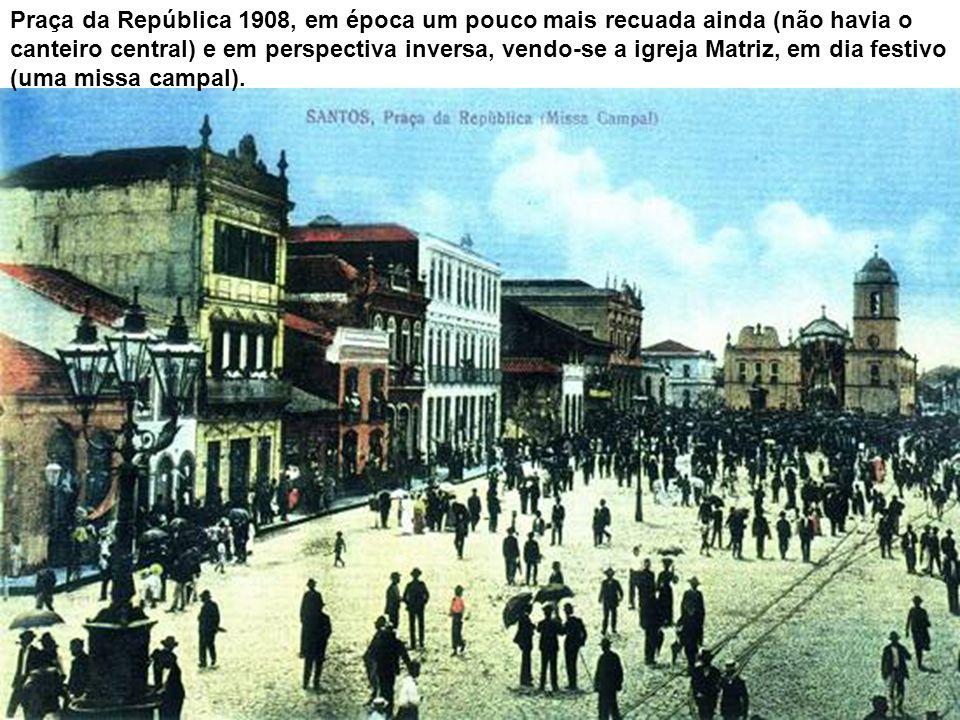 Igreja do Valongo após 1860. O plano inicial incluía a demolição da tradicional igreja, situada no Largo Marquês de Monte Alegre, mas o cidadão Franci