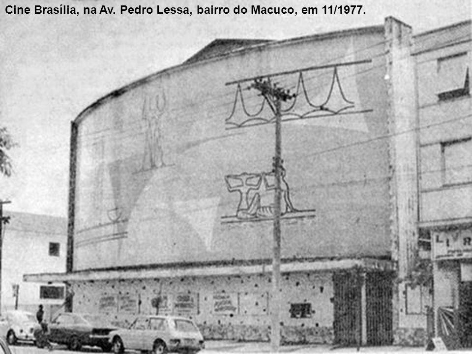 Cinema Theatro D. Pedro, na Rua Campos Melo.