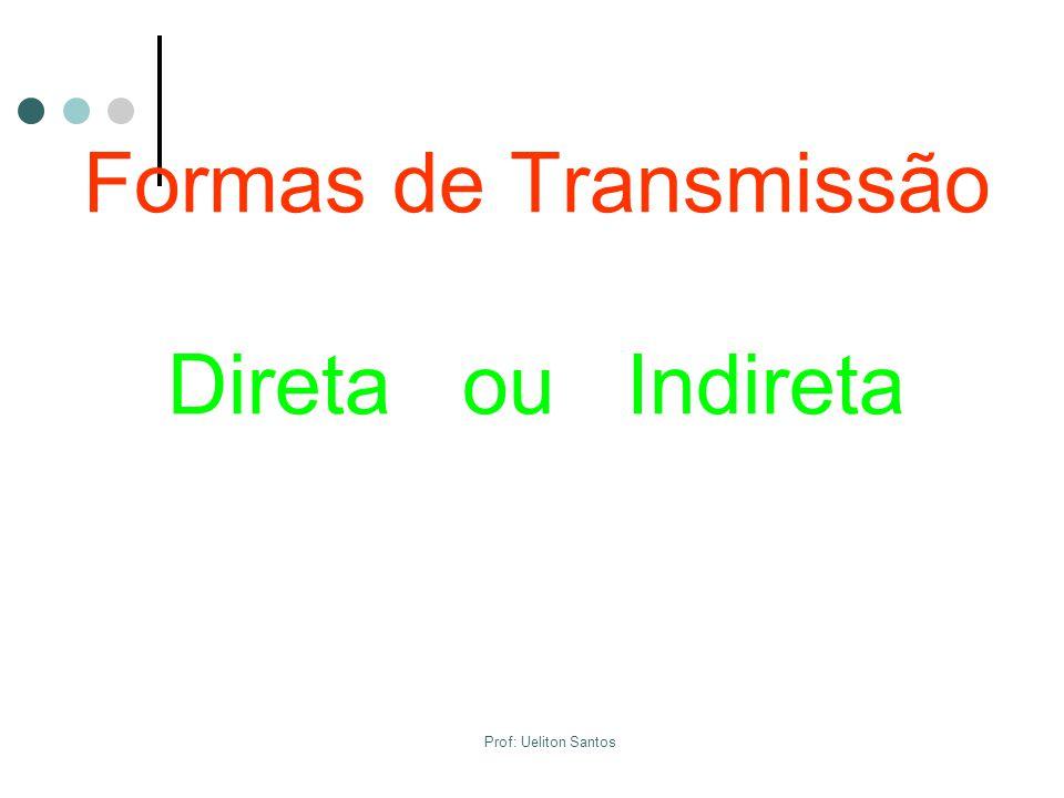 Formas de Transmissão Direta ou Indireta Prof: Ueliton Santos