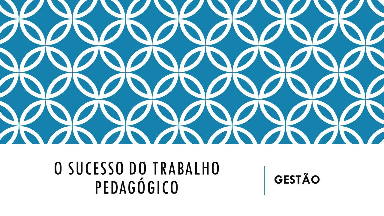 O SUCESSO DO TRABALHO PEDAGÓGICO GESTÃO