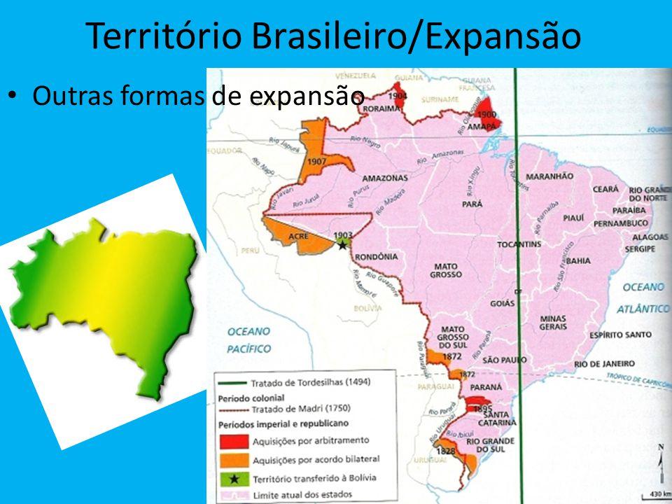 Território Brasileiro/Expansão Outras formas de expansão