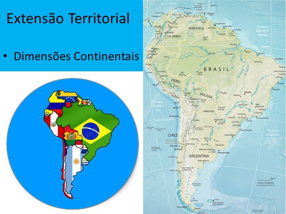 Extensão Territorial Dimensões Continentais
