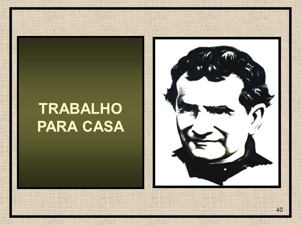 40 TRABALHO PARA CASA