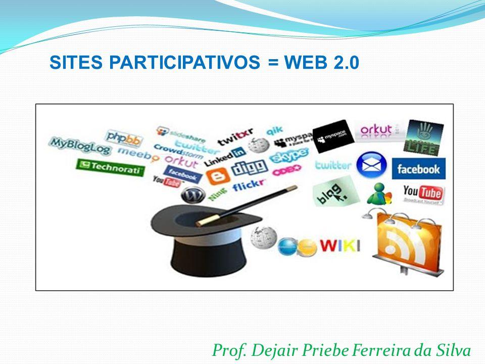 Prof. Dejair Priebe Ferreira da Silva SITES PARTICIPATIVOS = WEB 2.0