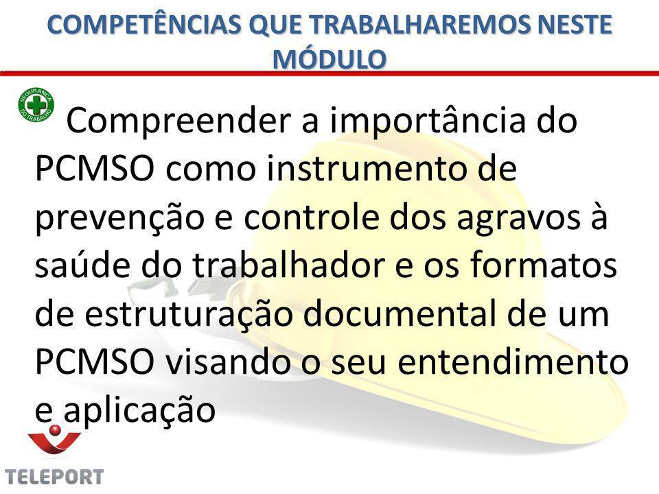 Técnico de Segurança x PCMSO Apesar do Técnico de Segurança do Trabalho não ser o responsável direto pela confecção e coordenação do PCMSO, ele passa a ser um Administrador em potencial do Programa.