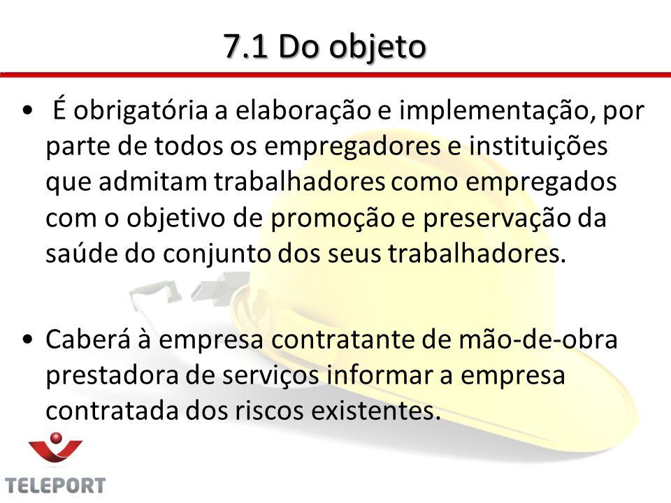 7.2 - Diretrizes O PCMSO é parte integrante do conjunto mais amplo de iniciativas da empresa no campo da saúde dos trabalhadores, devendo estar articulado com o disposto nas demais NR's.