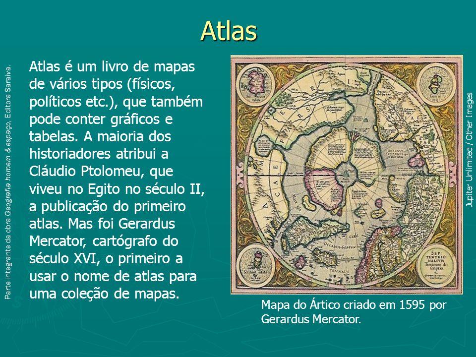 Atlas Atlas é um livro de mapas de vários tipos (físicos, políticos etc.), que também pode conter gráficos e tabelas.