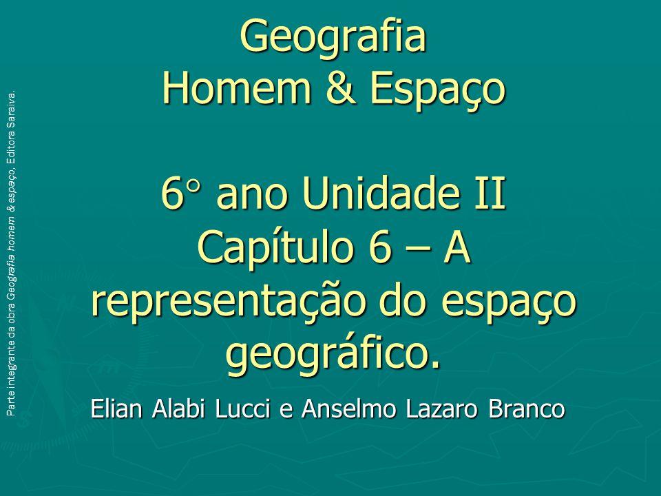 Geografia Homem & Espaço 6° ano Unidade II Capítulo 6 – A representação do espaço geográfico.