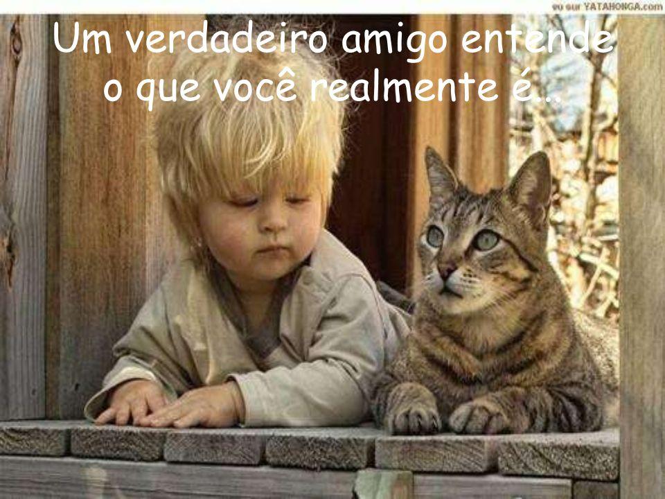 Um verdadeiro amigo entende o que você realmente é...