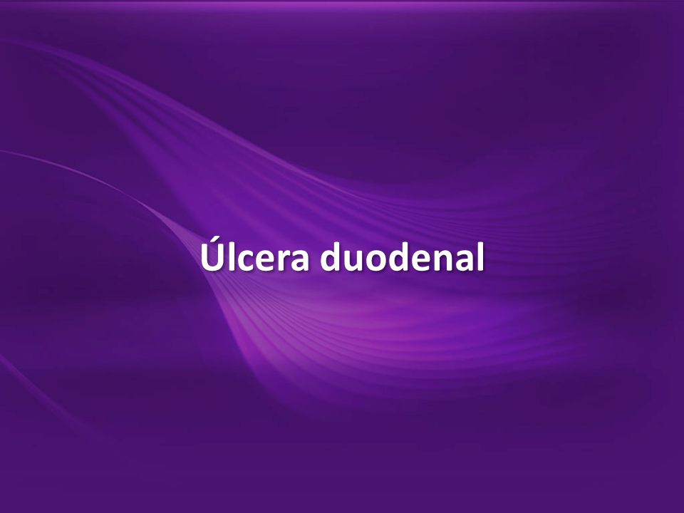 1.Úlcera linear transversal, na parede anterior/vertente superior do bulbo, em cicatrização (H2 de Sakita).