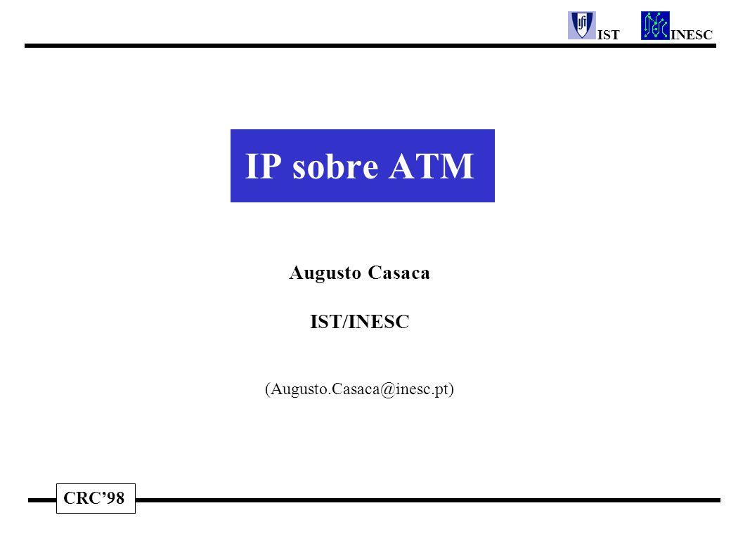 CRC'98 INESCIST IP sobre ATM Augusto Casaca IST/INESC (Augusto.Casaca@inesc.pt)